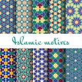 Arab spring seamless pattern set Stock Image