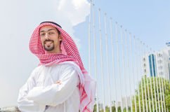 Arab on the street Royalty Free Stock Image