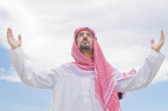 Arab on the street Royalty Free Stock Photography