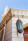Arab street lanterns in the city of Dubai Stock Photography