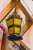 Arab street lanterns in the city of Dubai Royalty Free Stock Photos
