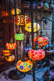 Arab street lanterns in the city of Dubai Royalty Free Stock Image
