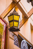 Arab street lanterns in the city of Dubai Stock Images