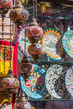 Arab street lanterns in the city of Dubai Stock Image