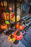 Arab street lanterns in the city of Dubai Royalty Free Stock Images