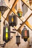 Arab street lanterns in the city of Dubai Stock Photo