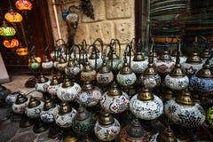 Arab street lanterns in the city of Dubai Stock Photos