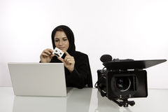 Arab Student Editor Royalty Free Stock Image
