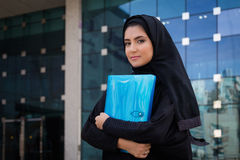 Arab Student. Holding a folder stock photos