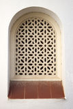 Arab style arch window in Roc de Sant Gaieta, Spain. Royalty Free Stock Photography