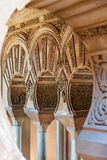 Arab style arches Taifa stock photo