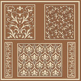 Arab style floral patterns Royalty Free Stock Images