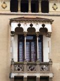 Arab Style Window, Figueres, Spain Stock Photo