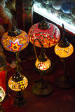 Arab stylish lamps on the Spice souk Stock Images
