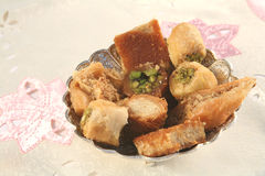 Arab sweet pastries royalty free stock photography