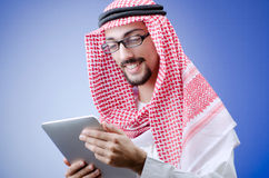 Arab with tablet computer Stock Photos