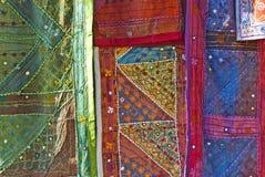 Arab tissues. In Granada Bazaar Stock Images