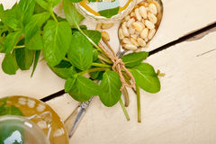 Arab traditional mint and pine nuts tea Royalty Free Stock Images