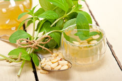 Arab traditional mint and pine nuts tea Royalty Free Stock Photos