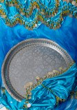 Arab Tray. Arabic is a tray on a dance dress bientre royalty free stock photos