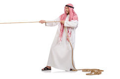 Arab in tug of war concept Stock Images