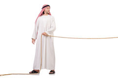 Arab in tug of war concept Royalty Free Stock Images