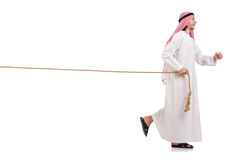 Arab in tug of war concept Stock Photography