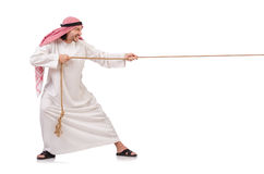 Arab in tug of war concept Royalty Free Stock Photography