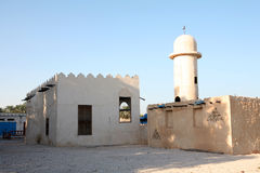 Arab village mosque royalty free stock photography