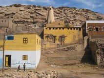 Arab village near Aswan. Egypt. Typical Arab village near Aswan. Egypt Stock Photo