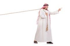 Arab w zażartej rywalizaci pojęciu Fotografia Royalty Free