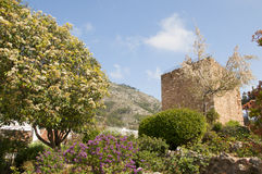 Arab Watchtower in Mijas on the Costa Del Sol Andalucia, Spain Stock Image