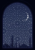 Arab Window. Classic arab window view at midnight Royalty Free Stock Images