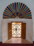 Arab window. Window decorated with Arabic art Royalty Free Stock Photo