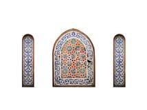 Arab window on a white background, Sharm El Sheikh, Egypt Stock Photography