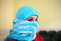 Arab woman. In a burqa Stock Photos