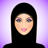 Arab woman in black Royalty Free Stock Image