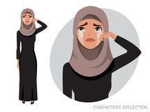 Arab Woman Crying royalty free illustration