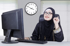 Arab woman having an idea Royalty Free Stock Images