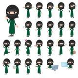 Arab woman niqab Style stock illustration