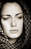 Arab woman with piercing stock image