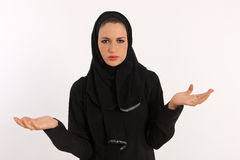 Arab Woman Pouting Royalty Free Stock Photo