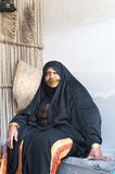 Arab woman seated Royalty Free Stock Photos