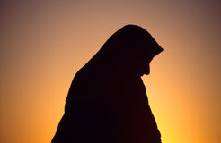 Arab woman with veil Royalty Free Stock Photo