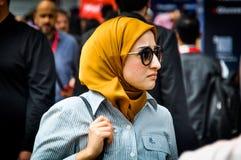 Arab woman visiting Gulfood 2019 stock image