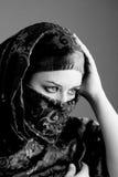 Arab Woman Wearing Veil Stock Photo