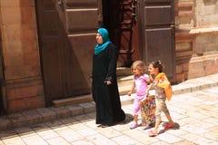 Arab women and daughters at Jerusalem Stock Photo