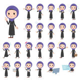 Arab women. Set of various poses of Arab women Royalty Free Stock Image