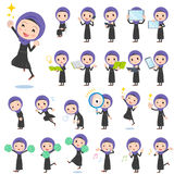 Arab women 2. Set of various poses of Arab women 2 Royalty Free Stock Photography