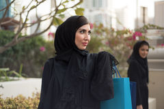 Arab Women Shopping Royalty Free Stock Photo